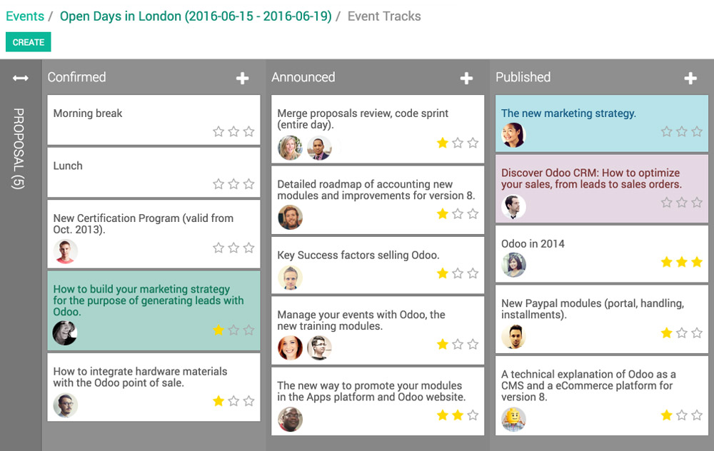 Odoo  Open Source Events Management Software