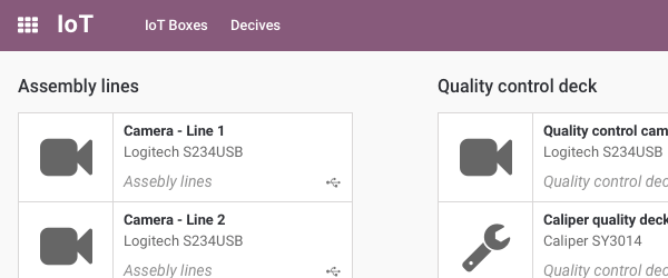 All devices found are automatically available in Odoo