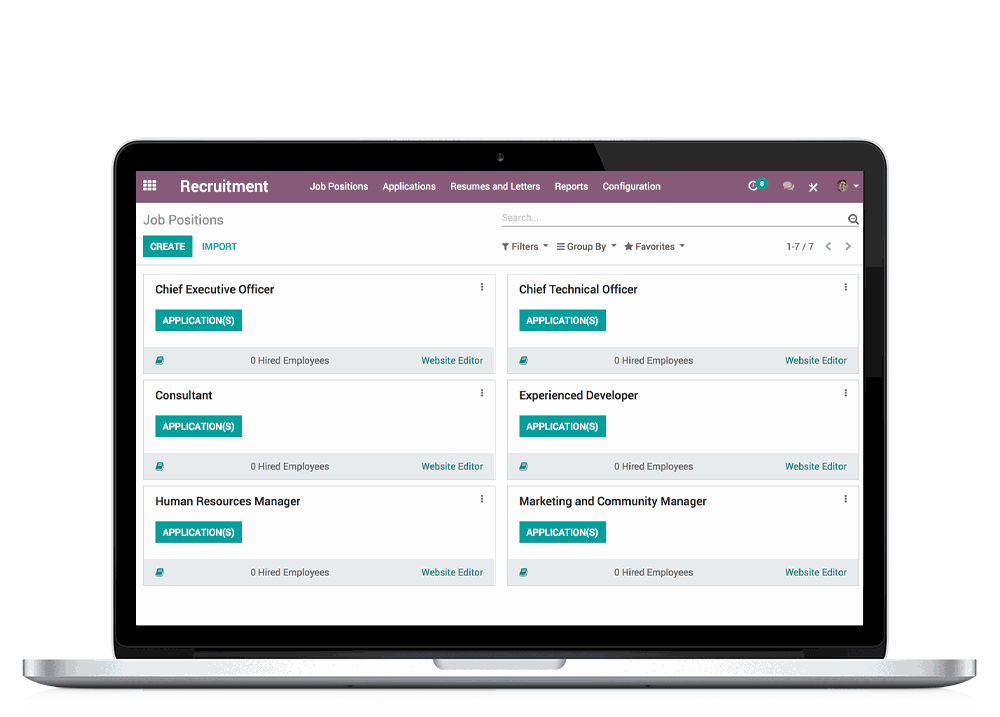 Odoo | Open Source Recruitment Application