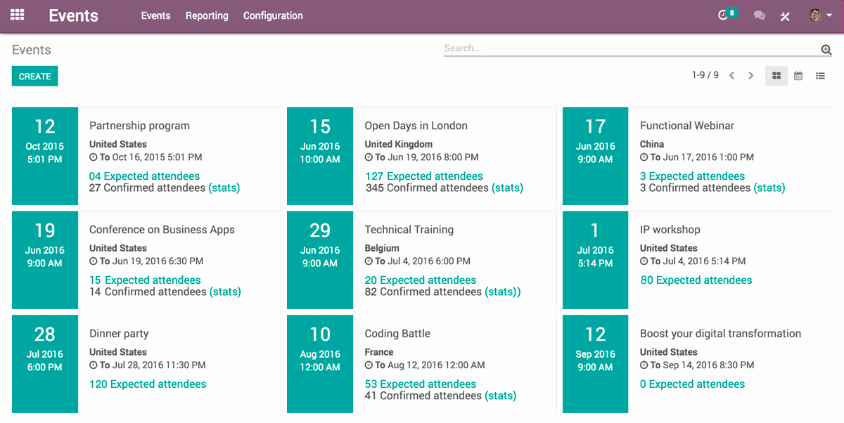 Odoo | Open Source Events Management Software