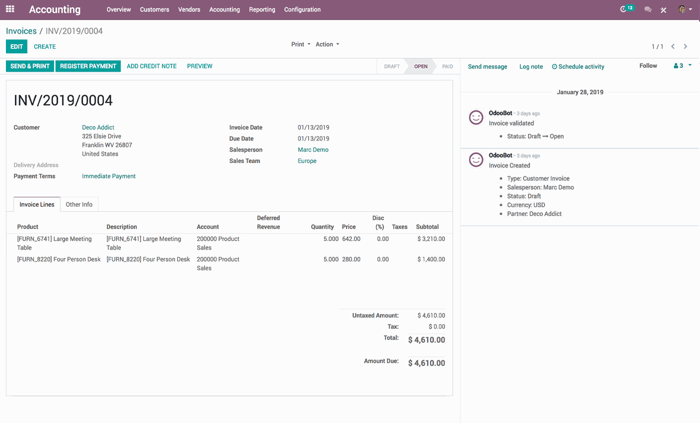 The #1 Online Billing Software | Odoo