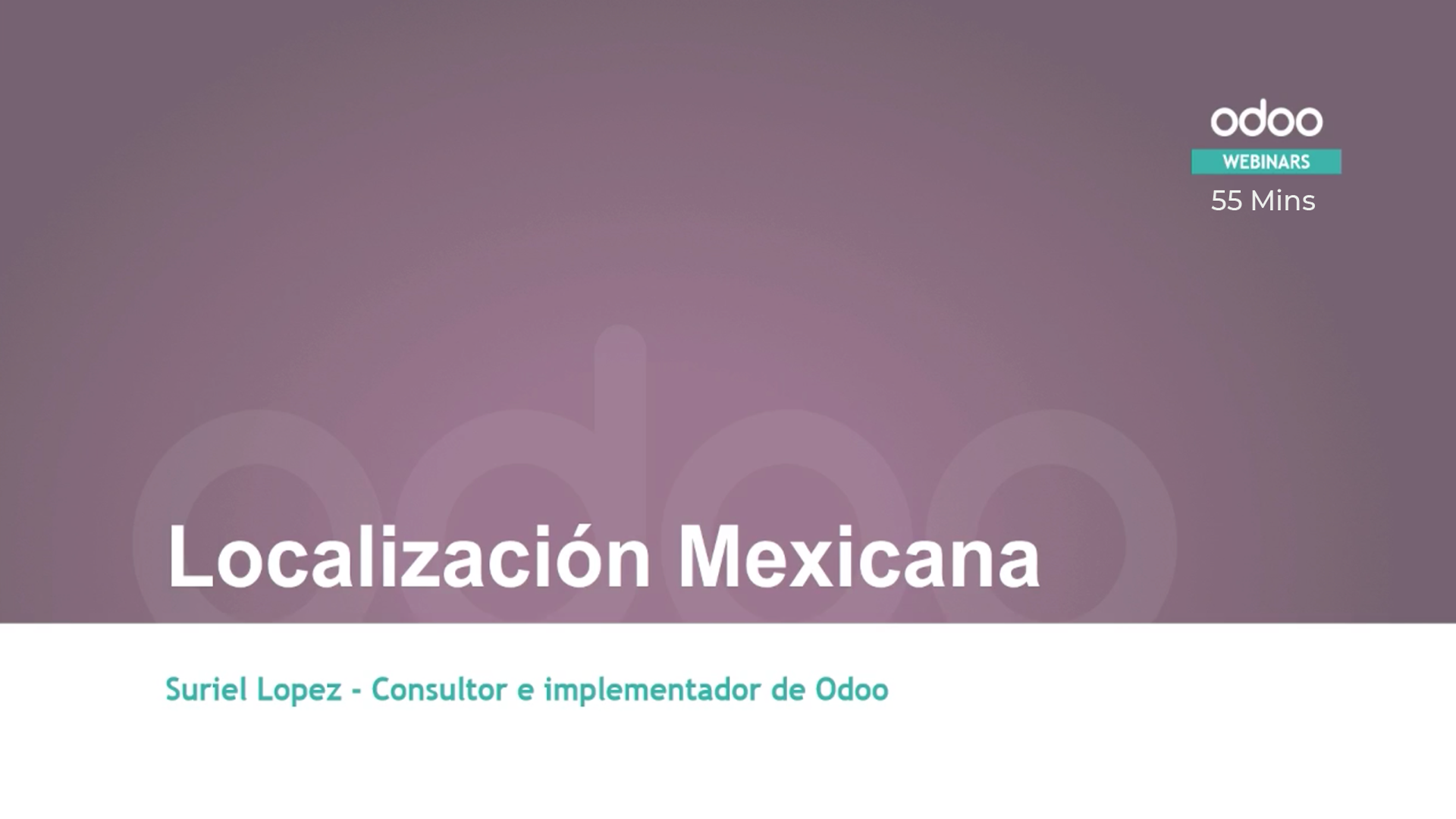 Odoo Mexican Localization video