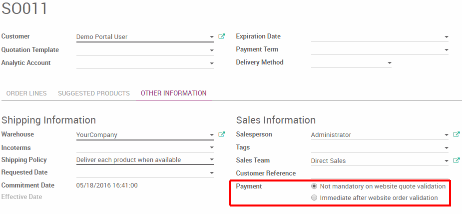 Can Customers Approve Sales Orders And Quotations Via The Portal Odoo - How to send quotation email to customer