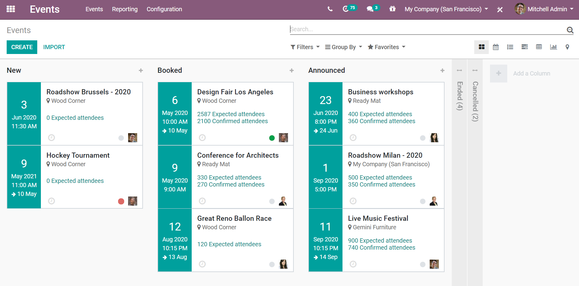 Odoo Events