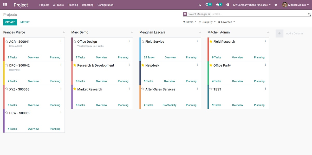 Odoo Open Source Project Management